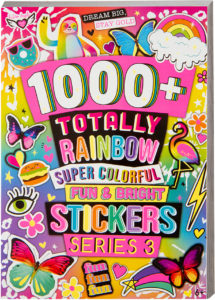 1000plus Totally Rainbow Super Colorful Fun Bright Stickers Series 3 77809 from Fashion Angels
