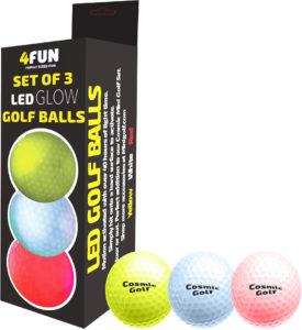 4FUN Set of 3 LED Golf Balls FUN013 from B4 Adventure