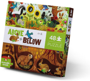 Above plus Below Floor Puzzle Backyard Discovery 48 pc 76002 from Crocodile Creek
