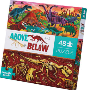 Above plus Below Floor Puzzle Dinosaur World 48 pc 76004 from Crocodile Creek