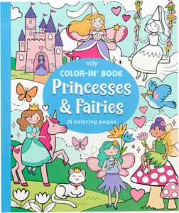 Color In Book Princess Fairies 118221 from OOLY