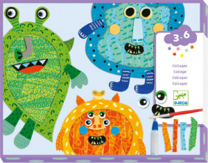 Happy Monsters Tear Stick Collages DJ09875 from Djeco